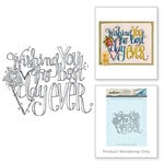 Spellbinders - Happy Grams 2 Collection - Rubber Stamps - Wishing You the Best Day Ever