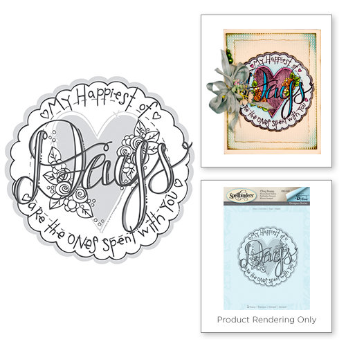Spellbinders - Happy Grams 2 Collection - Rubber Stamps - Days