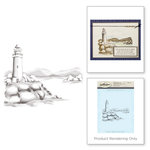Spellbinders - 3D Shading Cling Stamps - Lighthouse