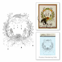 Spellbinders - 3D Shading Cling Stamps - Floral Wreath