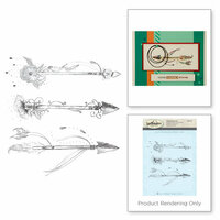 Spellbinders - 3D Shading Cling Stamps - Arrow Set