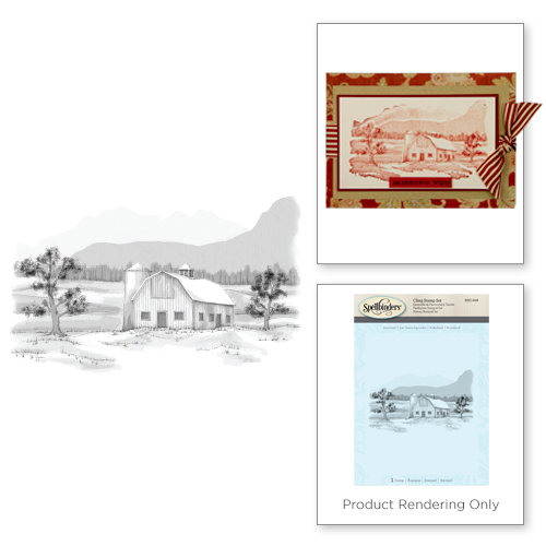 Spellbinders - 3D Shading Cling Stamps - Farmland