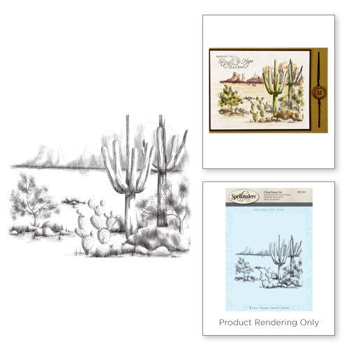 Spellbinders - 3D Shading Cling Stamps - Desert
