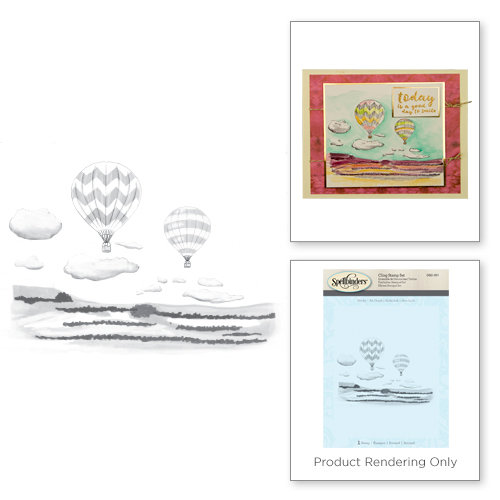 Spellbinders - 3D Shading Cling Stamps - Hot Air