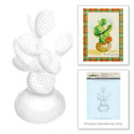 Spellbinders - 3D Shading Cling Stamps - Prickly Pear