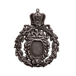 Spellbinders - A Gilded Life Collection - Pendant - Crowned Medallion - Silver