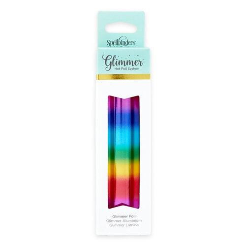 Spellbinders - Glimmer Hot Foil Collection - Glimmer Foil Roll - Mini Rainbow Stripe