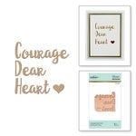 Spellbinders - Glimmer Hot Foil - Glimmer Plate - Courage Dear Heart