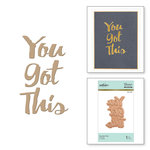 Spellbinders - Glimmer Hot Foil - Glimmer Plate - You Got This