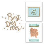 Spellbinders - Glimmer Hot Foil - Glimmer Plate - Best Day Ever