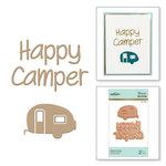 Spellbinders - Glimmer Hot Foil - Glimmer Plate - Happy Camper