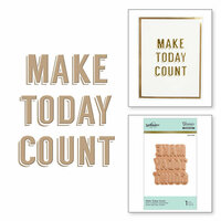 Spellbinders - Glimmer Hot Foil - Glimmer Plate - Make Today Count