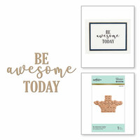 Spellbinders - Glimmer Hot Foil - Glimmer Plate - Be Awesome Today