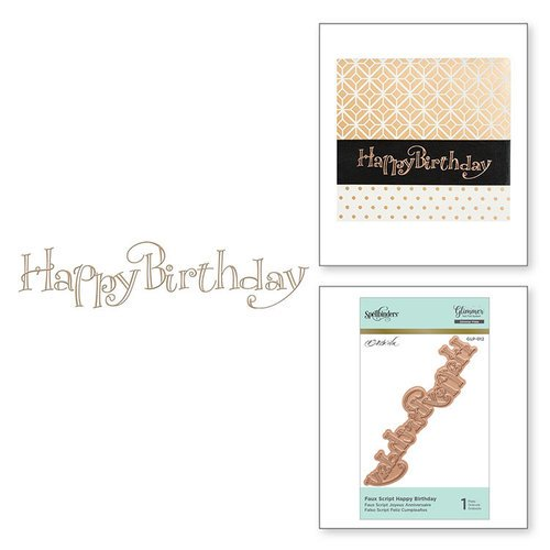 Spellbinders - Glimmer Hot Foil - Glimmer Plate - Happy Birthday