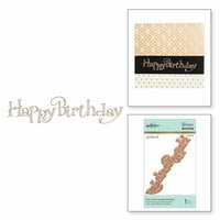 Spellbinders - Glimmer Hot Foil Collection - Glimmer Plate - Happy Birthday