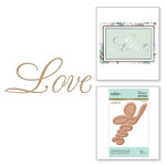 Spellbinders - Glimmer Hot Foil - Glimmer Plate - Copperplate Script Love