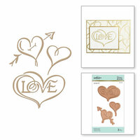 Spellbinders - Glimmer Hot Foil - Glimmer Plate - Hearts & Love