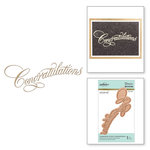 Spellbinders - Glimmer Hot Foil - Glimmer Plate - Congratulations