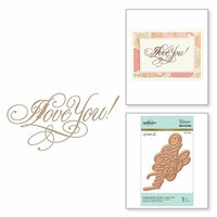 Spellbinders - Glimmer Hot Foil - Glimmer Plate - I Love You