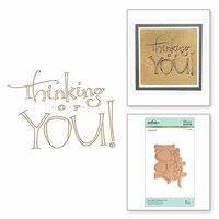 Spellbinders - Glimmer Hot Foil - Glimmer Plate - Thinking of You