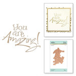 Spellbinders - Glimmer Hot Foil - Glimmer Plate - You are Amazing