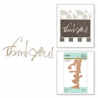 Spellbinders - Glimmer Hot Foil - Glimmer Plate - Thank You