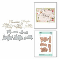 Spellbinders - Glimmer Hot Foil - Glimmer Plate and Dies - Elegant Occasion Sentiments