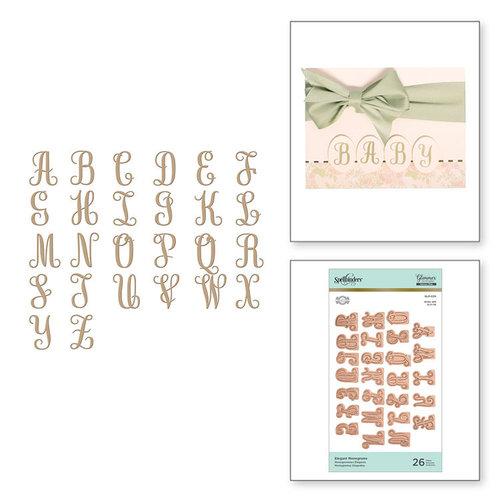Spellbinders - Glimmer Hot Foil - Glimmer Plate - Elegant Monograms