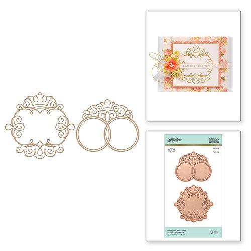 Spellbinders - Glimmer Hot Foil - Glimmer Plate - Monogram Medallions