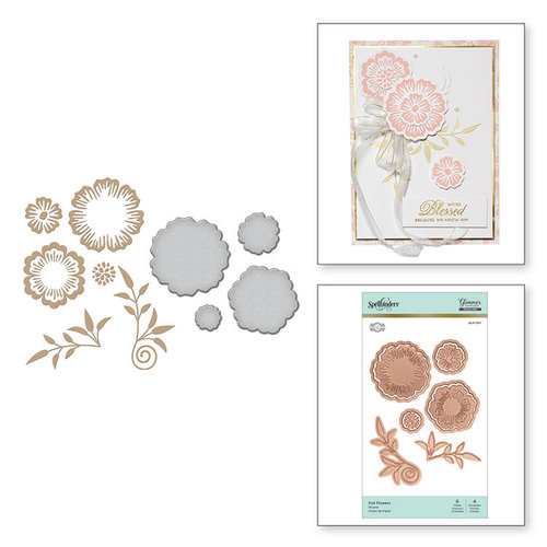 Spellbinders - Glimmer Hot Foil - Glimmer Plate and Dies - Foil Flowers