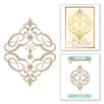 Spellbinders - Vintage Treasures Collection - Glimmer Hot Foil - Glimmer Plate - Marquise Diamond Suite