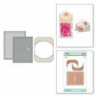 Spellbinders - Glimmer Hot Foil - Glimmer Plate and Dies - Place Card and Mini Topper