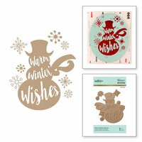 Spellbinders - Glimmer Hot Foil - Glimmer Plate - Warm Winter Wishes