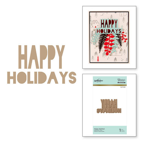 Spellbinders - Glimmer Hot Foil - Christmas - Glimmer Plate - Happy Holidays