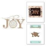 Spellbinders - Glimmer Hot Foil - Christmas - Glimmer Plate - Joy