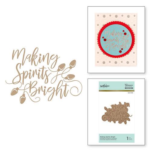 Spellbinders - Glimmer Hot Foil - Christmas - Glimmer Plate - Making Spirits Bright
