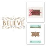 Spellbinders - Glimmer Hot Foil - Christmas - Glimmer Plate - Believe