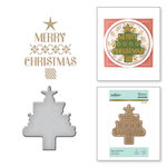 Spellbinders - Glimmer Hot Foil - Christmas - Glimmer Plate and Dies - A Very Merry Christmas