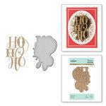Spellbinders - Glimmer Hot Foil - Christmas - Glimmer Plate and Dies - Festive Ho Ho Ho