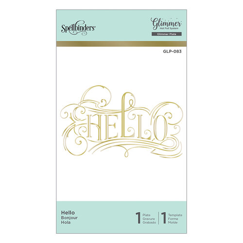 Spellbinders - Glimmer Hot Foil - Glimmer Plate - Hello