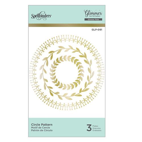 Spellbinders - Glimmer Hot Foil - Glimmer Plate - Circle Pattern