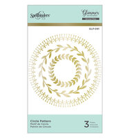 Spellbinders - Glimmer Hot Foil - Glimmer Plate - Circle Pattern