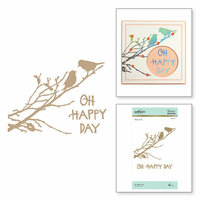 Spellbinders - Happy Collection - Glimmer Hot Foil - Glimmer Plate - Oh Happy Day