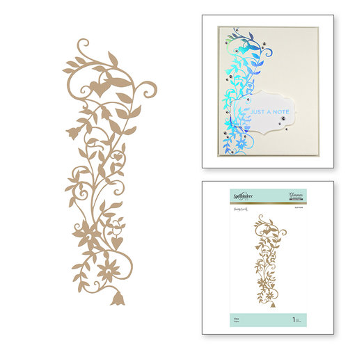 Spellbinders - Happy Collection - Glimmer Hot Foil - Glimmer Plate - Vine