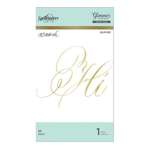 Spellbinders - PA Scribe Collection - Glimmer Hot Foil - Glimmer Plate - Hi