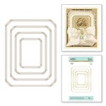 Spellbinders - The Gilded Age Collection - Glimmer Hot Foil - Glimmer Plate - Nested Rectangle