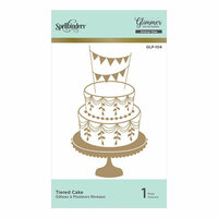 Spellbinders - Glimmer Hot Foil - Glimmer Plate - Tiered Cake