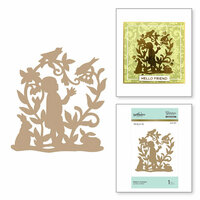 Spellbinders - Happy Collection - Glimmer Hot Foil - Glimmer Plate - Baby's Garden