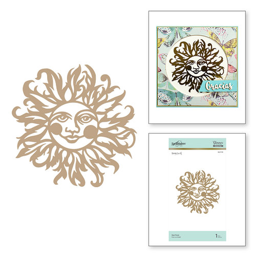 Spellbinders - Happy Collection - Glimmer Hot Foil - Glimmer Plate - Sun Face