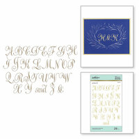 Spellbinders - PA Scribe Collection - Glimmer Hot Foil - Glimmer Plate - Copperplate Majuscules